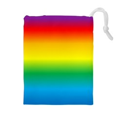 Rainbow Background Colourful Drawstring Pouches (extra Large)