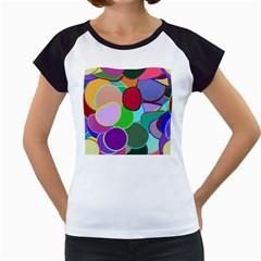 Dots Circles Colorful Unique Women s Cap Sleeve T