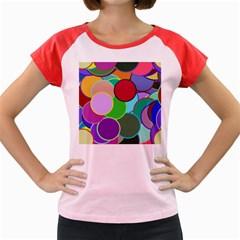 Dots Circles Colorful Unique Women s Cap Sleeve T Shirt