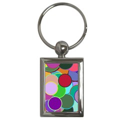 Dots Circles Colorful Unique Key Chains (rectangle)