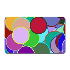 Dots Circles Colorful Unique Magnet (rectangular)