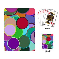 Dots Circles Colorful Unique Playing Card
