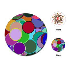 Dots Circles Colorful Unique Playing Cards (round)