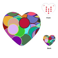 Dots Circles Colorful Unique Playing Cards (heart)