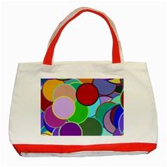 Dots Circles Colorful Unique Classic Tote Bag (Red)