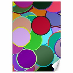 Dots Circles Colorful Unique Canvas 12  X 18