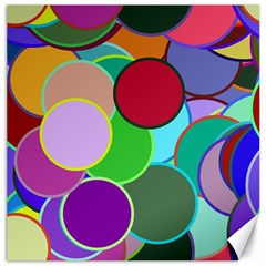 Dots Circles Colorful Unique Canvas 16  x 16