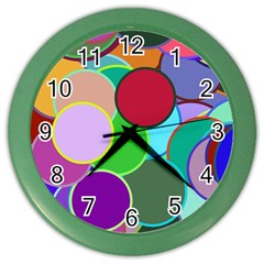 Dots Circles Colorful Unique Color Wall Clocks