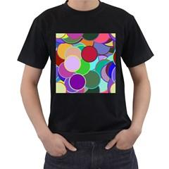 Dots Circles Colorful Unique Men s T-Shirt (Black)