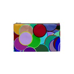 Dots Circles Colorful Unique Cosmetic Bag (Small)