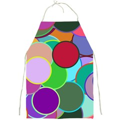 Dots Circles Colorful Unique Full Print Aprons