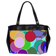 Dots Circles Colorful Unique Office Handbags (2 Sides)