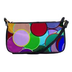Dots Circles Colorful Unique Shoulder Clutch Bags