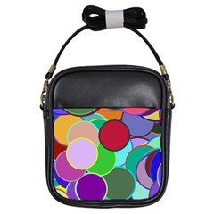 Dots Circles Colorful Unique Girls Sling Bags