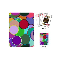 Dots Circles Colorful Unique Playing Cards (Mini)