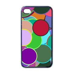 Dots Circles Colorful Unique Apple iPhone 4 Case (Black)