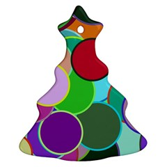 Dots Circles Colorful Unique Christmas Tree Ornament (two Sides)