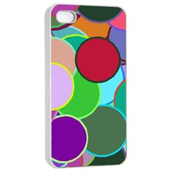 Dots Circles Colorful Unique Apple iPhone 4/4s Seamless Case (White)