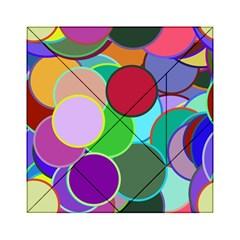 Dots Circles Colorful Unique Acrylic Tangram Puzzle (6  x 6 )