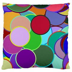 Dots Circles Colorful Unique Large Cushion Case (Two Sides)