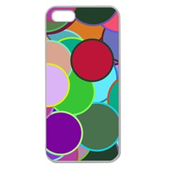 Dots Circles Colorful Unique Apple Seamless iPhone 5 Case (Clear)