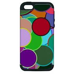 Dots Circles Colorful Unique Apple iPhone 5 Hardshell Case (PC+Silicone)