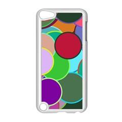 Dots Circles Colorful Unique Apple iPod Touch 5 Case (White)
