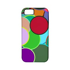 Dots Circles Colorful Unique Apple iPhone 5 Classic Hardshell Case (PC+Silicone)