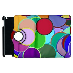 Dots Circles Colorful Unique Apple Ipad 2 Flip 360 Case
