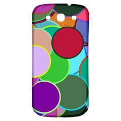 Dots Circles Colorful Unique Samsung Galaxy S3 S III Classic Hardshell Back Case