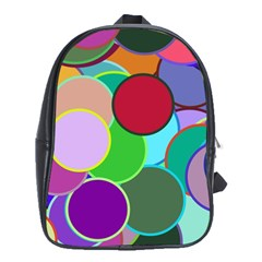 Dots Circles Colorful Unique School Bags (XL)