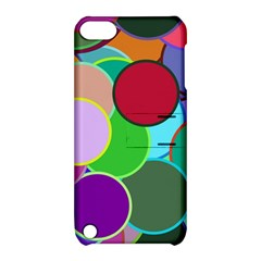 Dots Circles Colorful Unique Apple iPod Touch 5 Hardshell Case with Stand