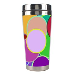 Dots Circles Colorful Unique Stainless Steel Travel Tumblers