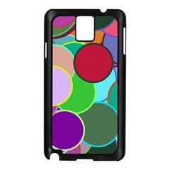 Dots Circles Colorful Unique Samsung Galaxy Note 3 N9005 Case (Black)