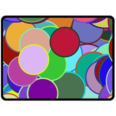 Dots Circles Colorful Unique Double Sided Fleece Blanket (Large)