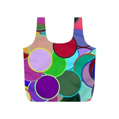 Dots Circles Colorful Unique Full Print Recycle Bags (S)