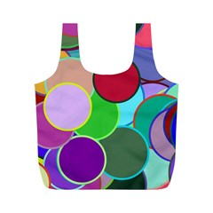 Dots Circles Colorful Unique Full Print Recycle Bags (M)