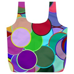 Dots Circles Colorful Unique Full Print Recycle Bags (L)