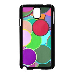 Dots Circles Colorful Unique Samsung Galaxy Note 3 Neo Hardshell Case (Black)