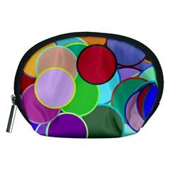 Dots Circles Colorful Unique Accessory Pouches (Medium)