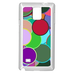 Dots Circles Colorful Unique Samsung Galaxy Note 4 Case (White)