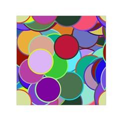 Dots Circles Colorful Unique Small Satin Scarf (Square)
