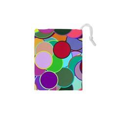 Dots Circles Colorful Unique Drawstring Pouches (xs)