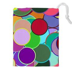 Dots Circles Colorful Unique Drawstring Pouches (xxl)