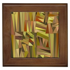 Earth Tones Geometric Shapes Unique Framed Tiles