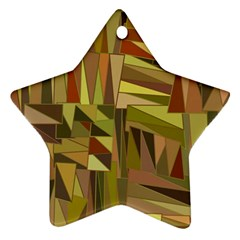 Earth Tones Geometric Shapes Unique Ornament (Star)