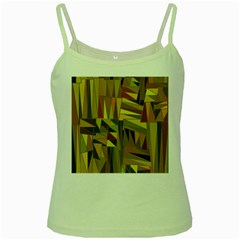 Earth Tones Geometric Shapes Unique Green Spaghetti Tank