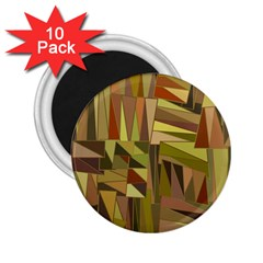 Earth Tones Geometric Shapes Unique 2 25  Magnets (10 Pack)