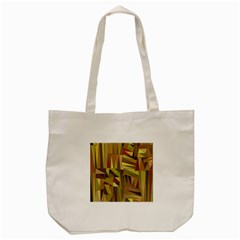 Earth Tones Geometric Shapes Unique Tote Bag (Cream)