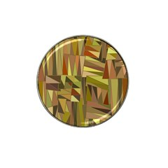 Earth Tones Geometric Shapes Unique Hat Clip Ball Marker (4 pack)